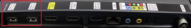Samsung UE49K6300 USB ports